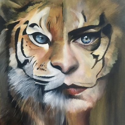 Lion woman - A Paint Artwork by Paola Nardella