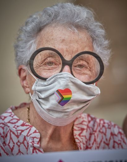 5. Masked NYC – Witness to Our Time: Sylvia Weinstock - a Photographic Art Artowrk by Andrew Joshua Parrillo
