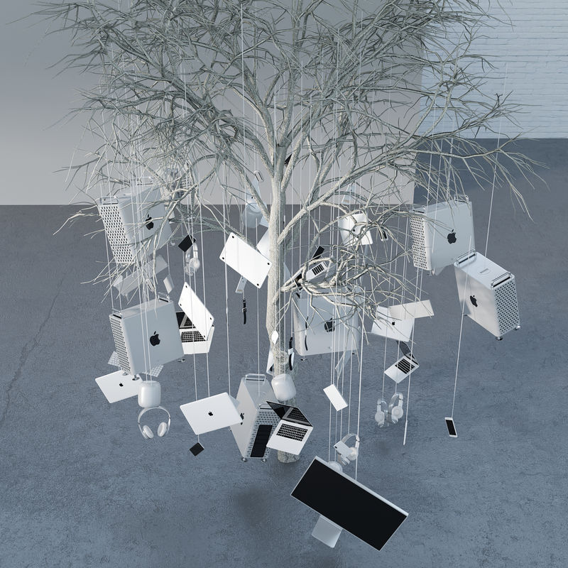 Apple Tree - a Sculpture & Installation by DAKNYS