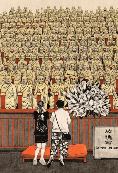 150 Buddhas - A Paint Artwork by Svetlana Dorosheva