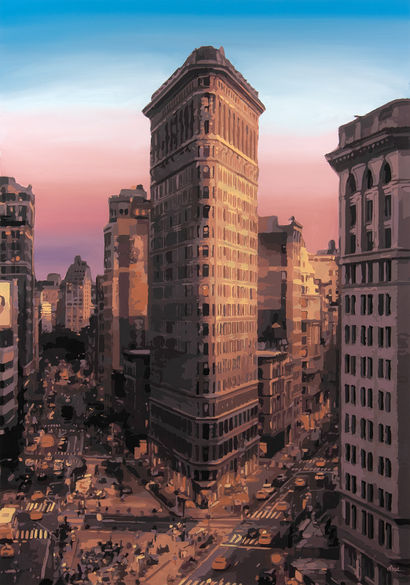 Flatiron Building - A Paint Artwork by Moz