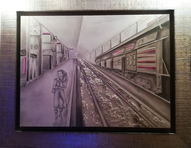 Railway Station - a Paint by Irene Di Biagio