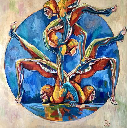 Acrobats - A Paint Artwork by Irena Prochazkova