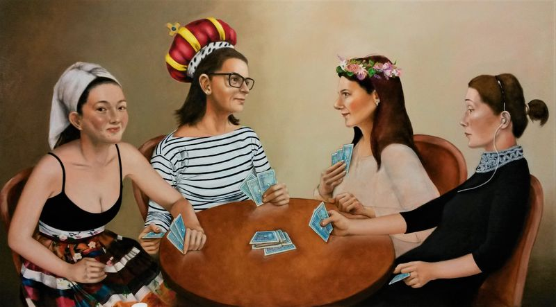 Game of cards - a Paint by Sun Hee Moon