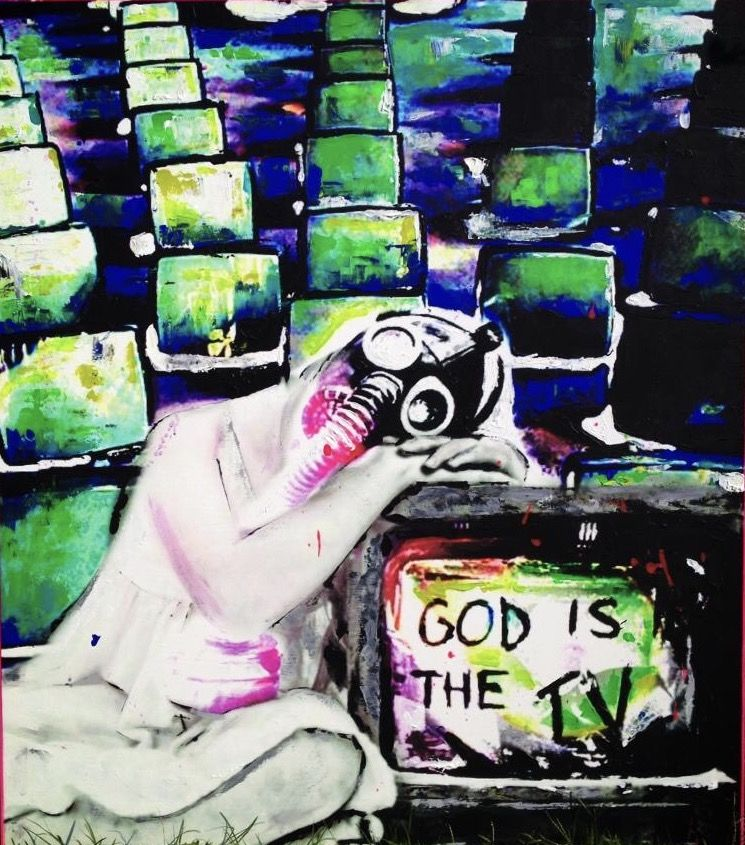 """GOD IS THE TV"" - a Paint by DEBORASENZALACCA"