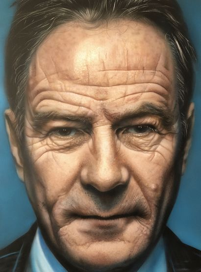 Realistic portrait of Bryan Lee Cranston  - a Paint Artowrk by Dolgor.Art