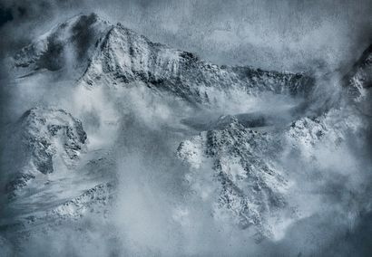 Grand Combin - a Digital Graphics Artowrk by Christine Lavanchy