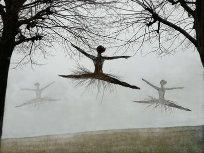 dancing in the fog - a Land Art Artowrk by gospel