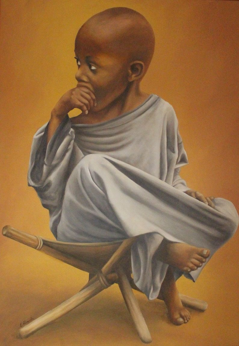 African child - a Paint by Emanuela Pancella