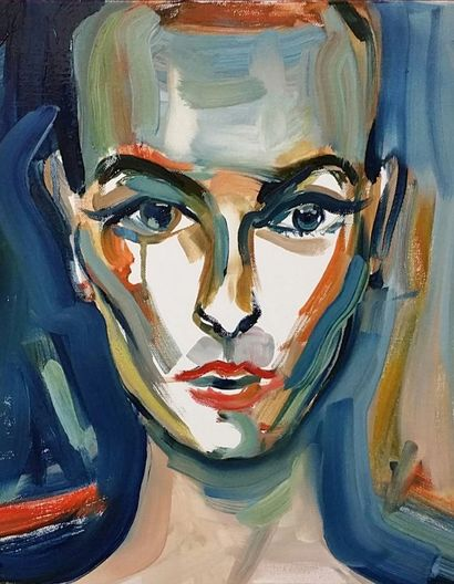 Sinead O\'Connor abstrait  - a Paint Artowrk by Karibou