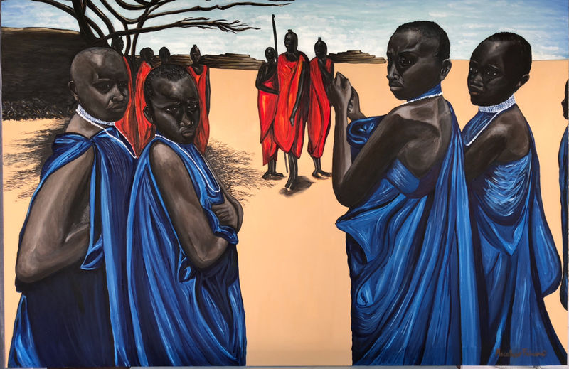 Villaggio  Masai  - a Paint by Fabiana Macaluso