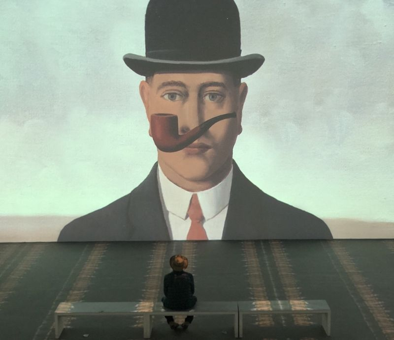 Man watching Renè Magritte II - a Photographic Art by Luxb