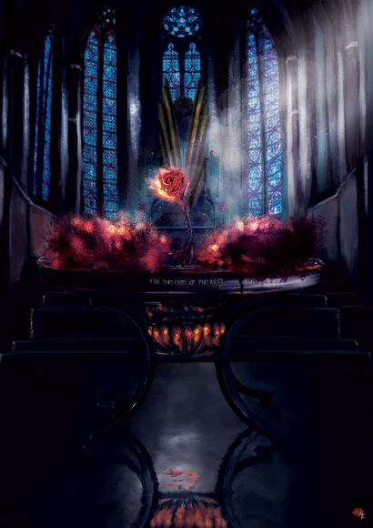 ROSE_CHURCH - a Digital Graphics Artowrk by Andrea Ravaglia