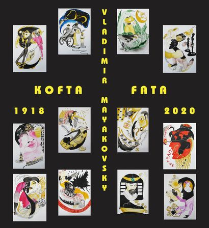 Comic book for Kofta Fata poems written by V. Mayakovsky in 1918 - A Paint Artwork by Zakhara