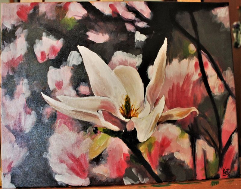 Magnolia - a Paint by ketty Fuser