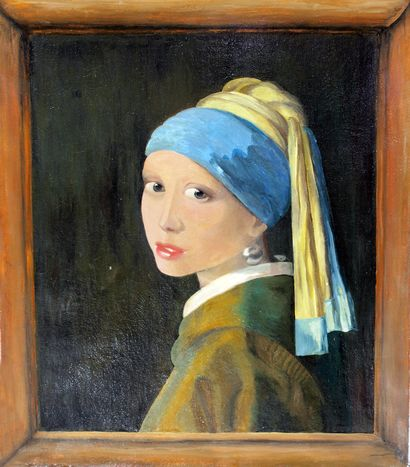 Girl with a pearl earring - Jan Vermeer - A Paint Artwork by Victoria Moisseyeva