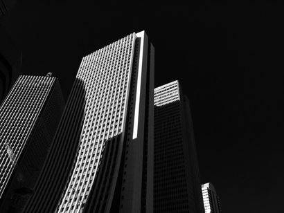 Light in the City - BW - A Photographic Art Artwork by Yuko Yamada