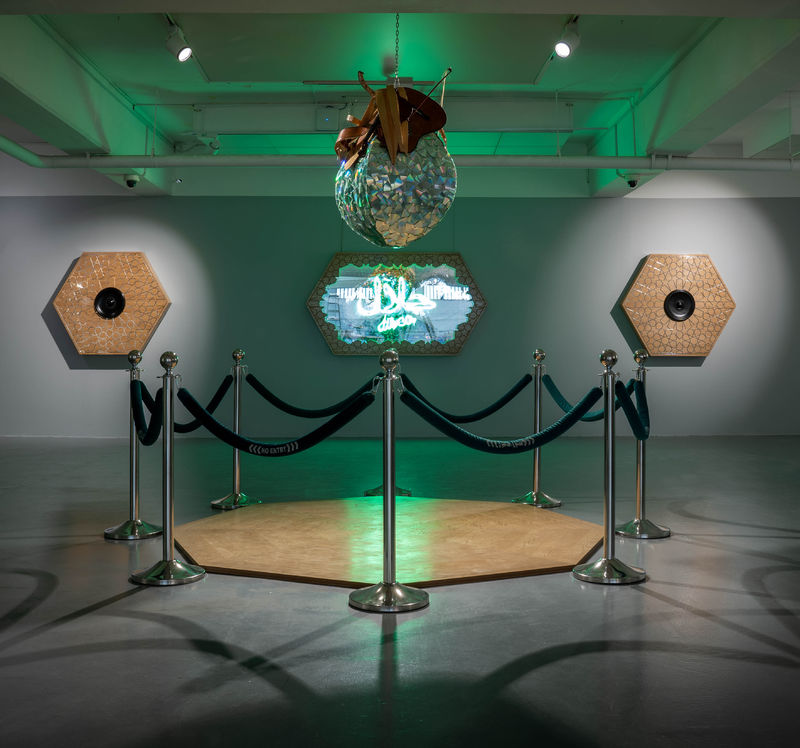 Halal on the Dance Floor - a Sculpture & Installation by Mohammad  Alhemd