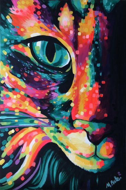The cat is not for sale - a Paint Artowrk by nadia Bulabula