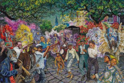 Congo Square Birthplace of American Music - a Paint Artowrk by Chuck