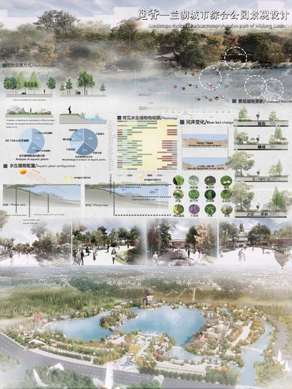 Finding Fragrances——Landscape Planning and Design of Lanhu Urban Comprehensive Park - a Land Art Artowrk by Zijing Zou