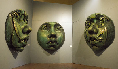 Triptych Maria Moronga - A Sculpture & Installation Artwork by Juan Gorupo
