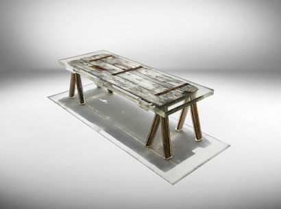"""Souvenir of the last century"" table - A Design Artwork by studio nucleo"