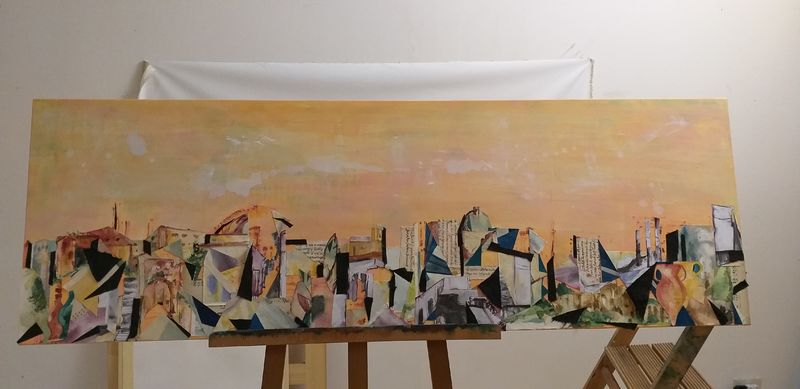 Rome Eternal City Skyline - a Paint by Janine Reeves