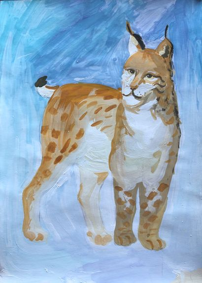 Lynx - A Paint Artwork by Marusia