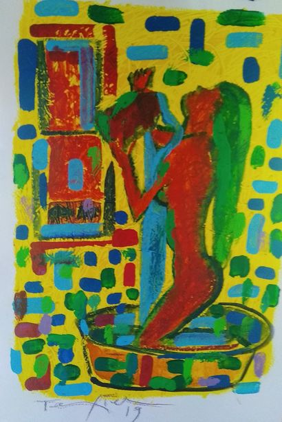 nude girl - a Paint Artowrk by alberto texier