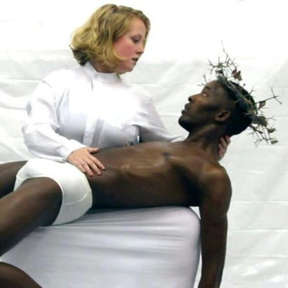 TENSIONS: BLACK JESUS AND HIS MOTHER MARY - a Performance Artowrk by Ozis