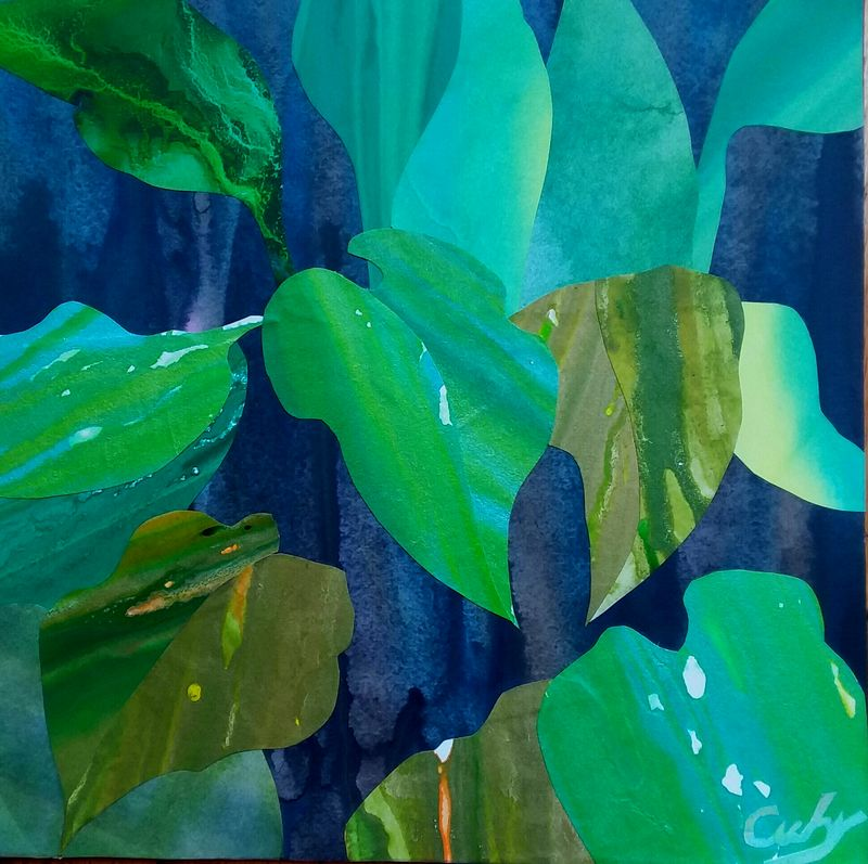 Hosta Leaves - a Paint by none