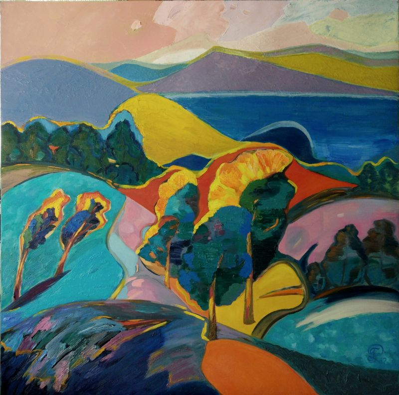 Expanses of Baikal - a Paint by Galina Raspopina