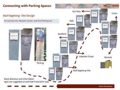 Connecting with parking space(Bat Franziska path) - A Urban Art Artwork by maria budnikova