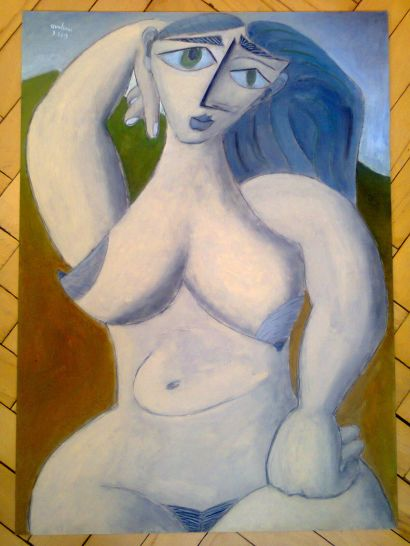 Nature. Nude. NAME OF THE WORK: Groundhog Day. CRYPTOTitle: HN19-PIIIN12mi - a Paint Artowrk by varhavala