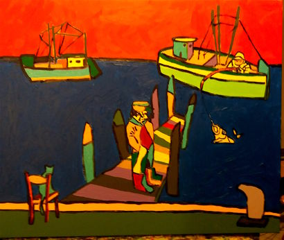 Pesca - a Paint Artowrk by Roberto Aere