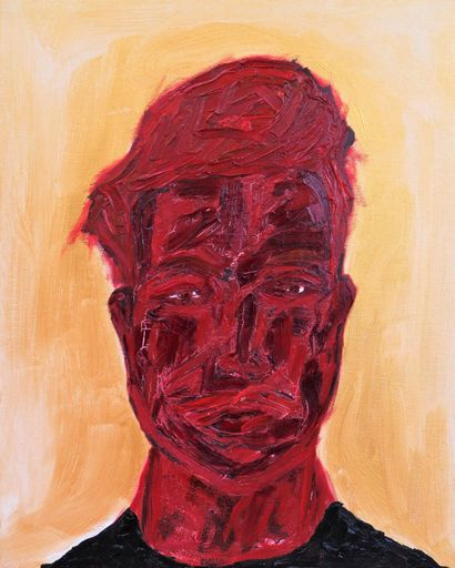 RED SELF-PORTRAIT - A Paint Artwork by Lorenzo Campetella