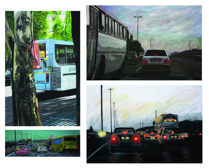 Urban Traffic A Member Of The Family - a Paint Artowrk by zahra shahpori