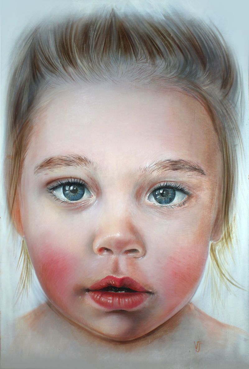 The happiness of the world in the eyes of a child - a Paint by Vlasova