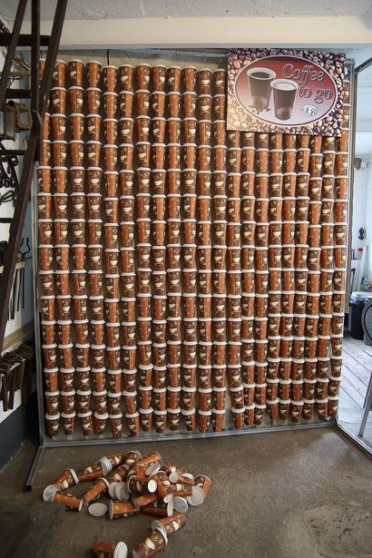 Coffee to go - A Sculpture & Installation Artwork by Klaus  Pohlmann