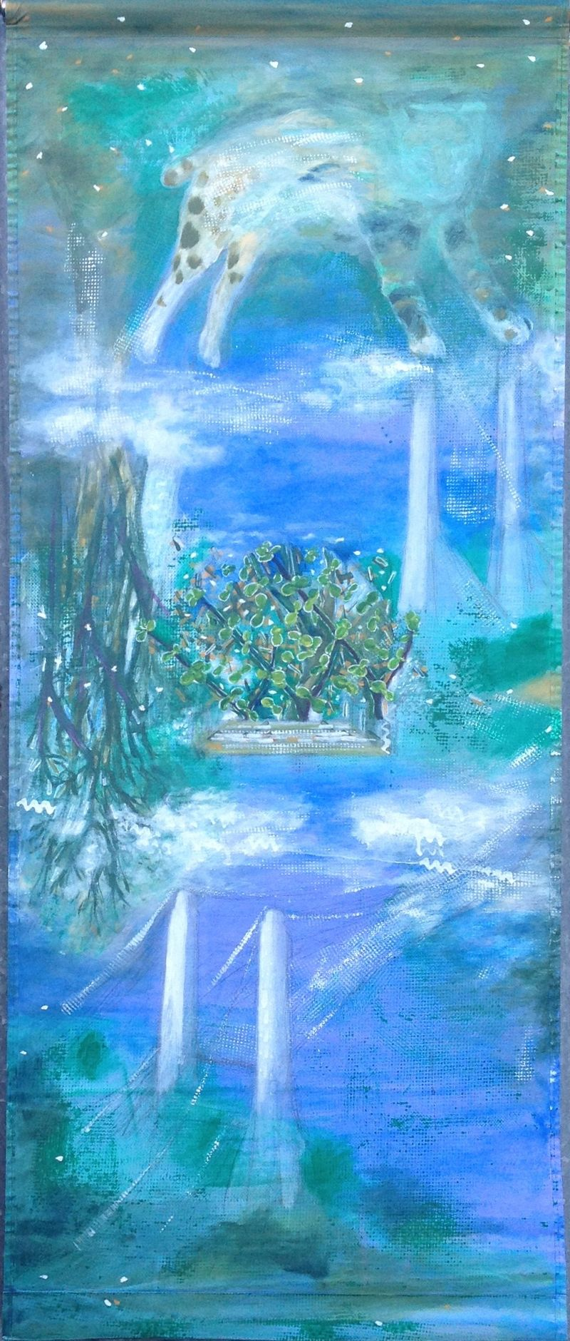 Jade Holiday Scroll - a Paint by Mary-Anne Bleakley