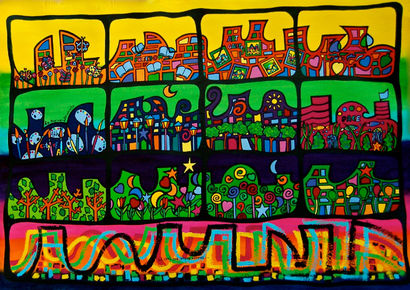 THE CITY THAT I WILL LOVE FOREVER - a Paint Artowrk by Ana Roda