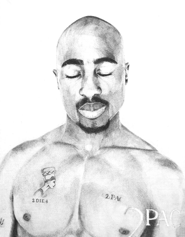 2pac - a Paint by Maria Gordovich