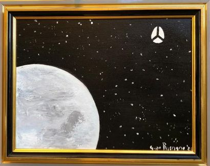 PEACE IN THE SPACE - A Paint Artwork by Giuseppe Ruscigno