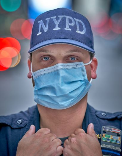 13. Masked NYC – Witness to Our Time: NYPD @ Times Square - A Photographic Art Artwork by Andrew Joshua Parrillo