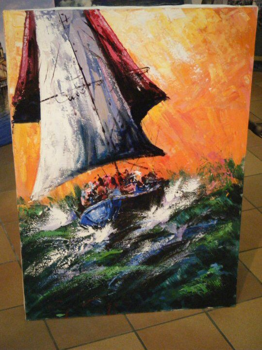 Barca a vela - a Paint by Ugo gizza