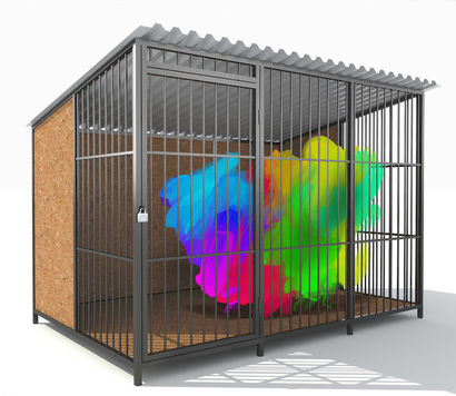 abstract in the cage - a Digital Graphics Artowrk by suresh babu maddilety