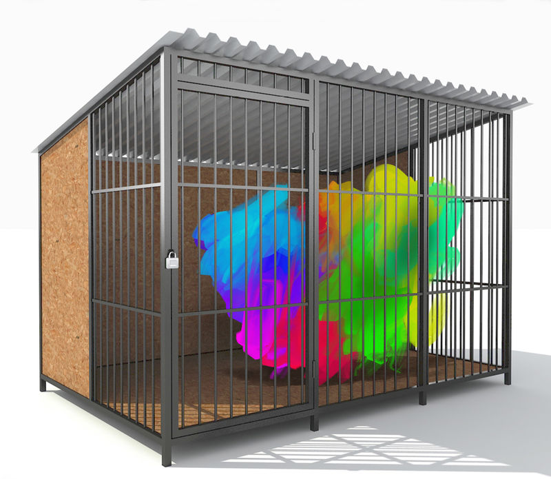 abstract in the cage - a Digital Graphics and Cartoon by suresh babu maddilety