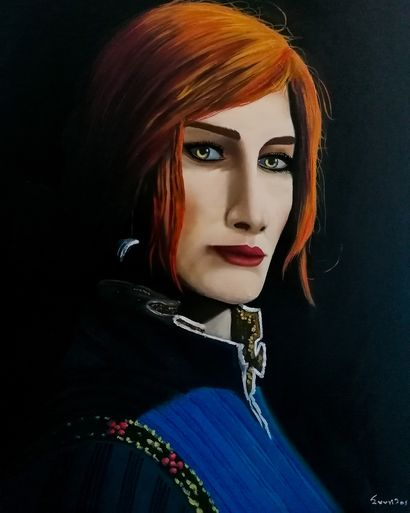 Triss Merigold - a Paint Artowrk by STAVROS SYNTILAS
