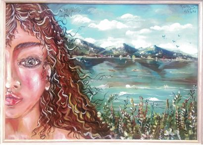 La ragazza del lago - A Paint Artwork by Greta Gurizzan